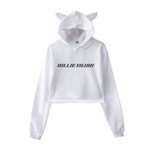 Billie Eilish Cropped Hoodie #4